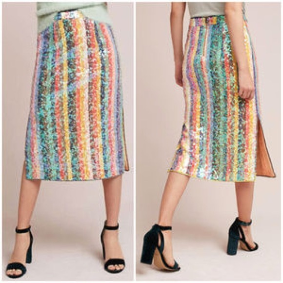 06011ae5db0 Anthropologie Skirts   Bnwt Maeve Sequined Skirt   Poshmark